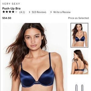 Victoria's Secret Very Sexy Push Up Bra Size 32B